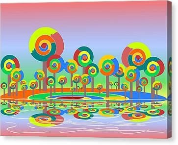 Lollypop Island Canvas Print by Anastasiya Malakhova