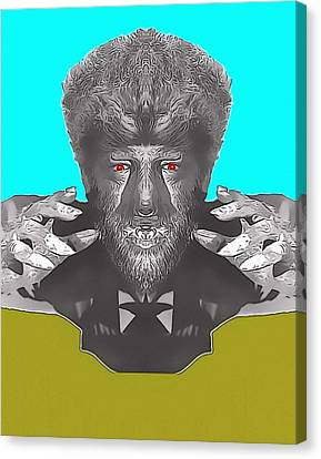 Lon Chaney Jr Alias In The Wolf Man Canvas Print by Art Cinema Gallery