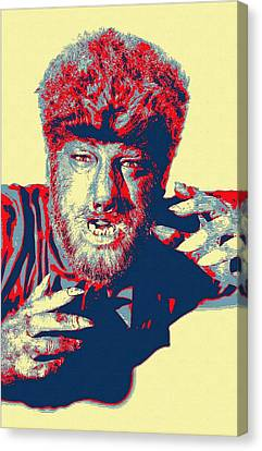 Lon Chaney Jr In The Wolf Man Canvas Print by Art Cinema Gallery