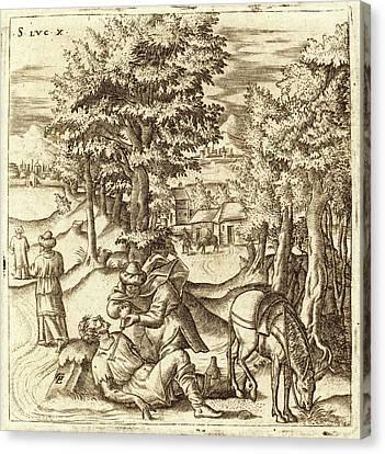 Léonard Gaultier, French 1561-1641, The Good Samaritan Canvas Print by Litz Collection