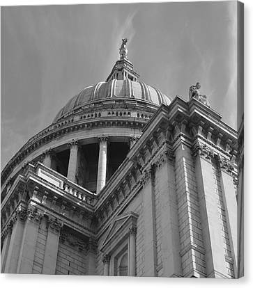 London St Pauls Cathedral Canvas Print by Cheryl Miller