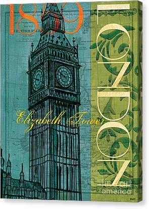 Big Ben Canvas Print - London 1859 by Debbie DeWitt