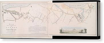 London And Greenwich Railway Canvas Print