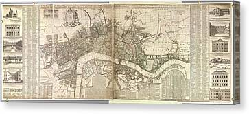 London And Westminster Canvas Print