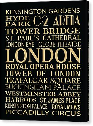 Bus Roll Canvas Print - London Attractions by Jaime Friedman