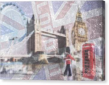London Blue Canvas Print by Hannes Cmarits