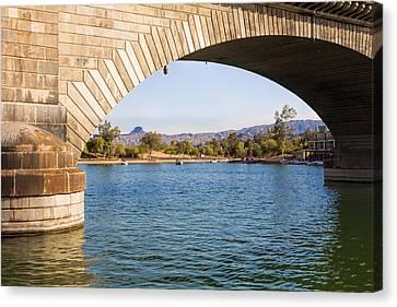 London Bridge At Lake Havasu City Canvas Print by Fred Larson