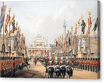 London Bridge, Kept By The Honourable Canvas Print by English School