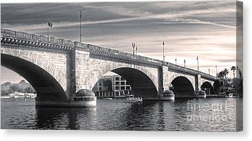 London Bridge Panorama Canvas Print by Gregory Dyer