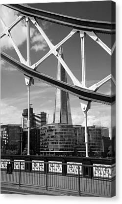 London Bridge With The Shard Canvas Print by Chevy Fleet