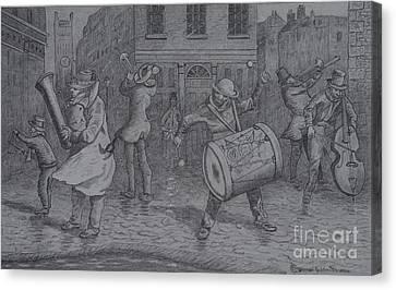 London Buskers 1853 Canvas Print
