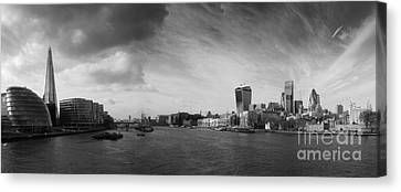 London City Panorama Canvas Print by Pixel Chimp