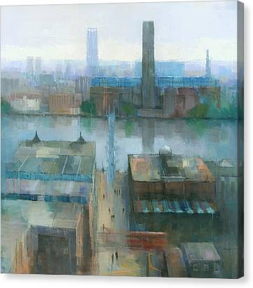 London Cityscape Canvas Print by Steve Mitchell