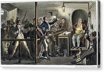 London Courtroom, 1821 Canvas Print by Granger