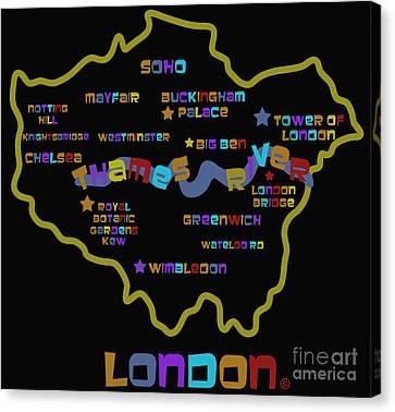 London Canvas Print by Dan Hilsenrath