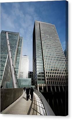London Docklands Skyscrapers Canvas Print