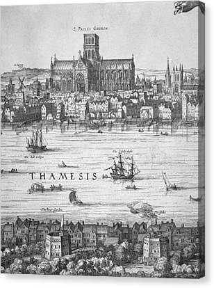 London During Elizabeth Is Reign 17th Canvas Print by Everett