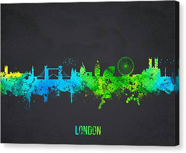 Canary Canvas Print - London England by Aged Pixel