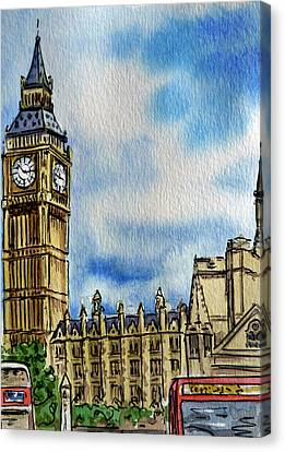 London England Big Ben Canvas Print by Irina Sztukowski