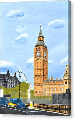 London England Big Ben  Canvas Print