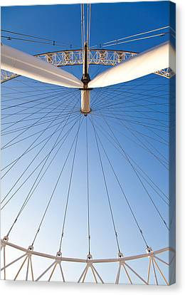 London Eye Geometry Canvas Print by Adam Pender