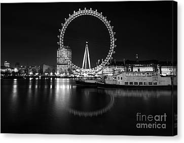 London Eye Mono Canvas Print