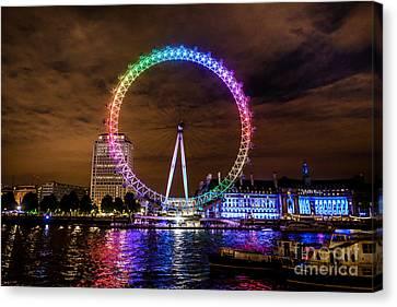 London Eye Pride Canvas Print by Matt Malloy