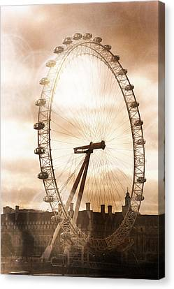Will And Kate Canvas Print - London Eye Refraction by Heidi Hermes