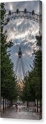 London Eye Vertical Panorama Canvas Print