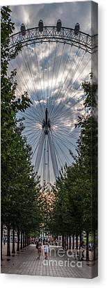 London Eye Vertical Panorama Canvas Print by Matt Malloy