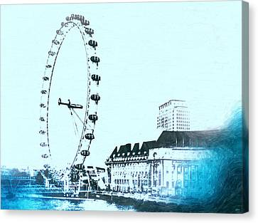 London Eye Vintage Canvas Print