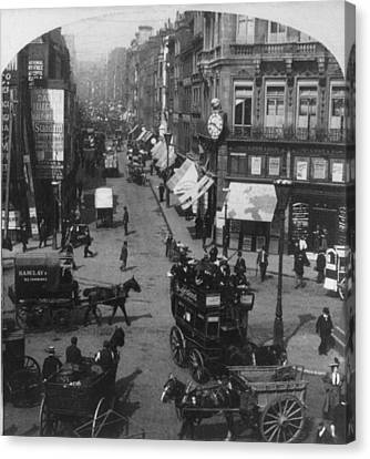 London Fleet Street, C1901 Canvas Print