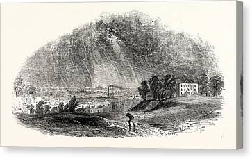 London, From Blackheath, During The Storm Canvas Print by English School