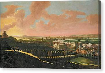 London From Greenwich Hill, C.1680 Oil On Canvas Canvas Print by Johannes Vorsterman
