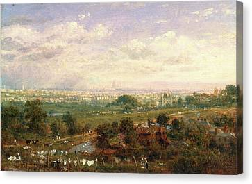 London From Islington Hill, Frederick Nash Canvas Print by Litz Collection