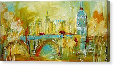 Big Ben Canvas Print - London Gold 3 by Irina Rumyantseva
