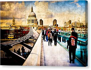 London Of My Dreams - St Paul's Canvas Print by Mark E Tisdale