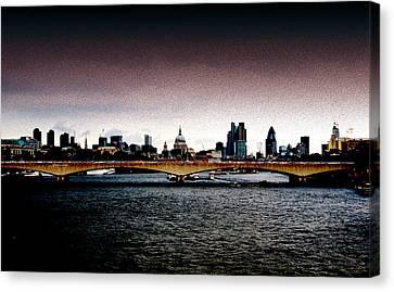 London Over The Waterloo Bridge Canvas Print by RicardMN Photography