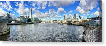 Tower Of London Canvas Print - London Panorama by Colin and Linda McKie