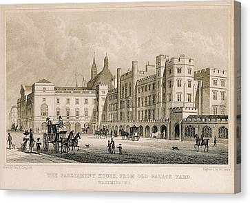 Londoners Canvas Print - London. Parliament. Engraving - � J by Everett