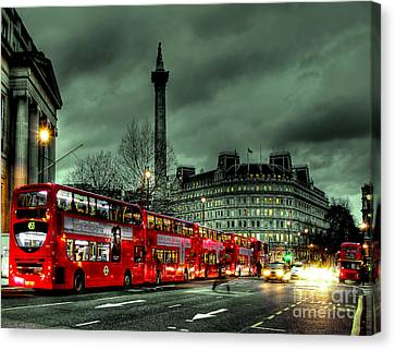 London Red Buses And Routemaster Canvas Print