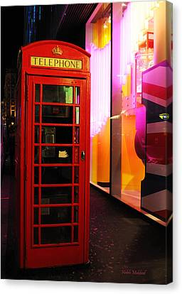 London Red Phone Booth Canvas Print by Haleh Mahbod