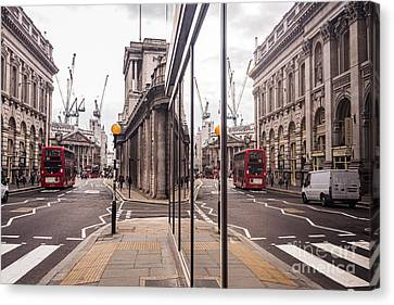 London Reflected Canvas Print by Matt Malloy