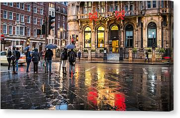 Reflections Of London Canvas Print