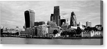 London Skyline Cityscape Bw Canvas Print by David French