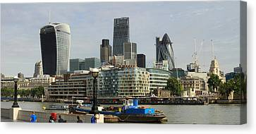 London Skyline Cityscape Canvas Print by David French