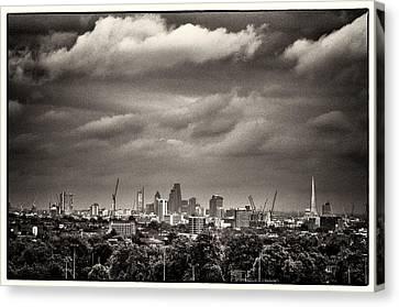 London Skyline From Hampstead Heath Canvas Print