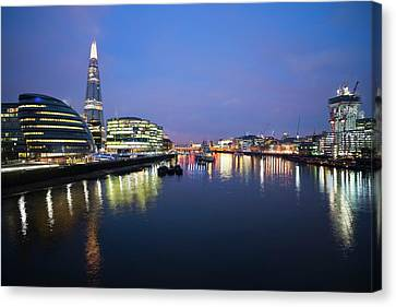 London Skyline From Tower Bridge Canvas Print