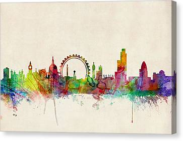 London Skyline Panoramic Canvas Print