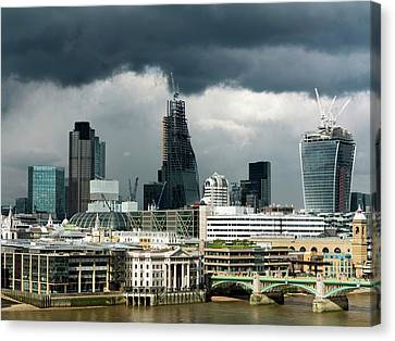 London Skyscraper Construction Canvas Print by Daniel Sambraus
